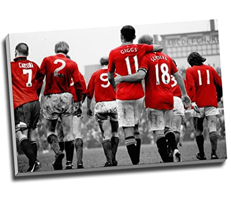 Manchester United Legends Football Canvas Print Wall Art Picture ...