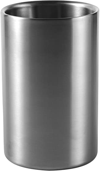 2 Motive Flaschenkühler EDELSTAHL Sektkübel Champagnerkühler Weinkühler Silber