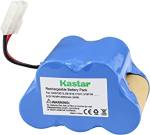 Kastar V1911 Battery 1 Pack, Ni-MH 6V 4000mAh, Replacement for XB1916 HHD10012 Euro-Pro Shark V1911 V1911N V1911-FS V1911FS TG-V1911-FS 2 Speed Cordless Vacuum Sweeper
