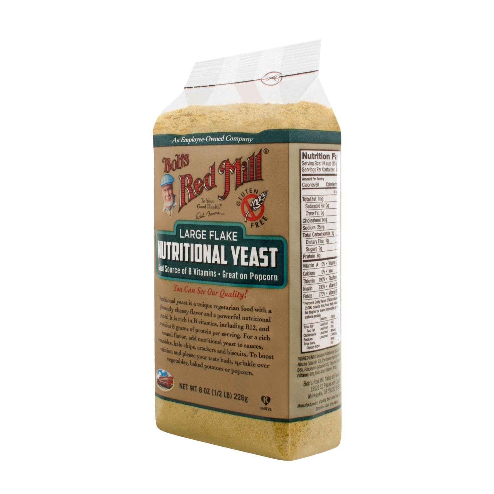 Bobs Red Mill Gluten Free Large Flake Nutritional Yeast - 8 oz - Case of 4