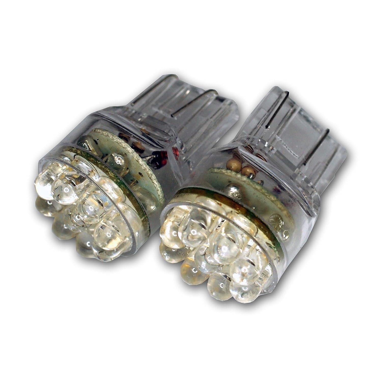 TuningPros LEDTL-T20-W15 Tail Light LED Light Bulbs T20 Wedge 15 LED White 2-pc Set