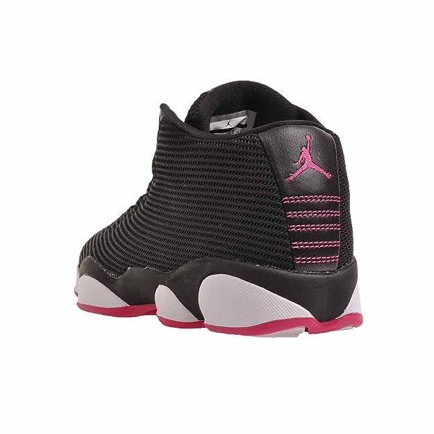 usine authentique e67e7 17f02 Jordans Girl's Jordan Horizon Low Walking Shoes Black/Vivid Pink-White