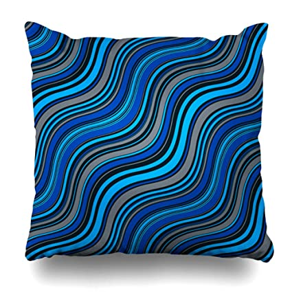 Amazon Decorative Pillow Cover 40X40 Two Sides Printed Dark Enchanting Dark Blue Decorative Pillows