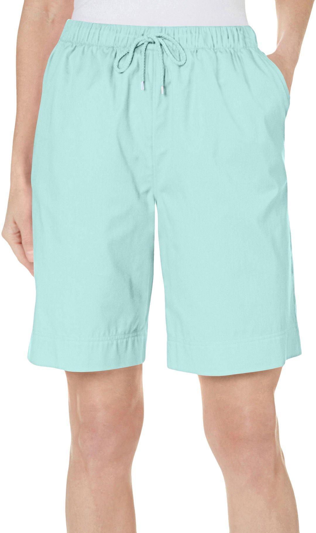 Coral Bay Womens Ocean Drive Drawstring Shorts X-Large Beach Glass