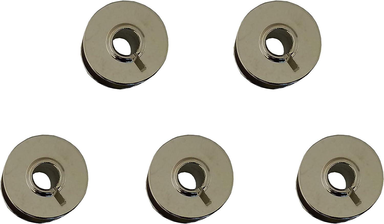 Pack 5 CANILLAS de metálicas para Alfa, Juki, Elna, Singer, Lervia ...