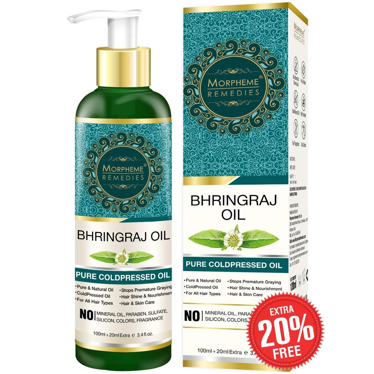 Morpheme Remedies Pure Bhringraj Oil (No Mineral Oil), 120ml product image