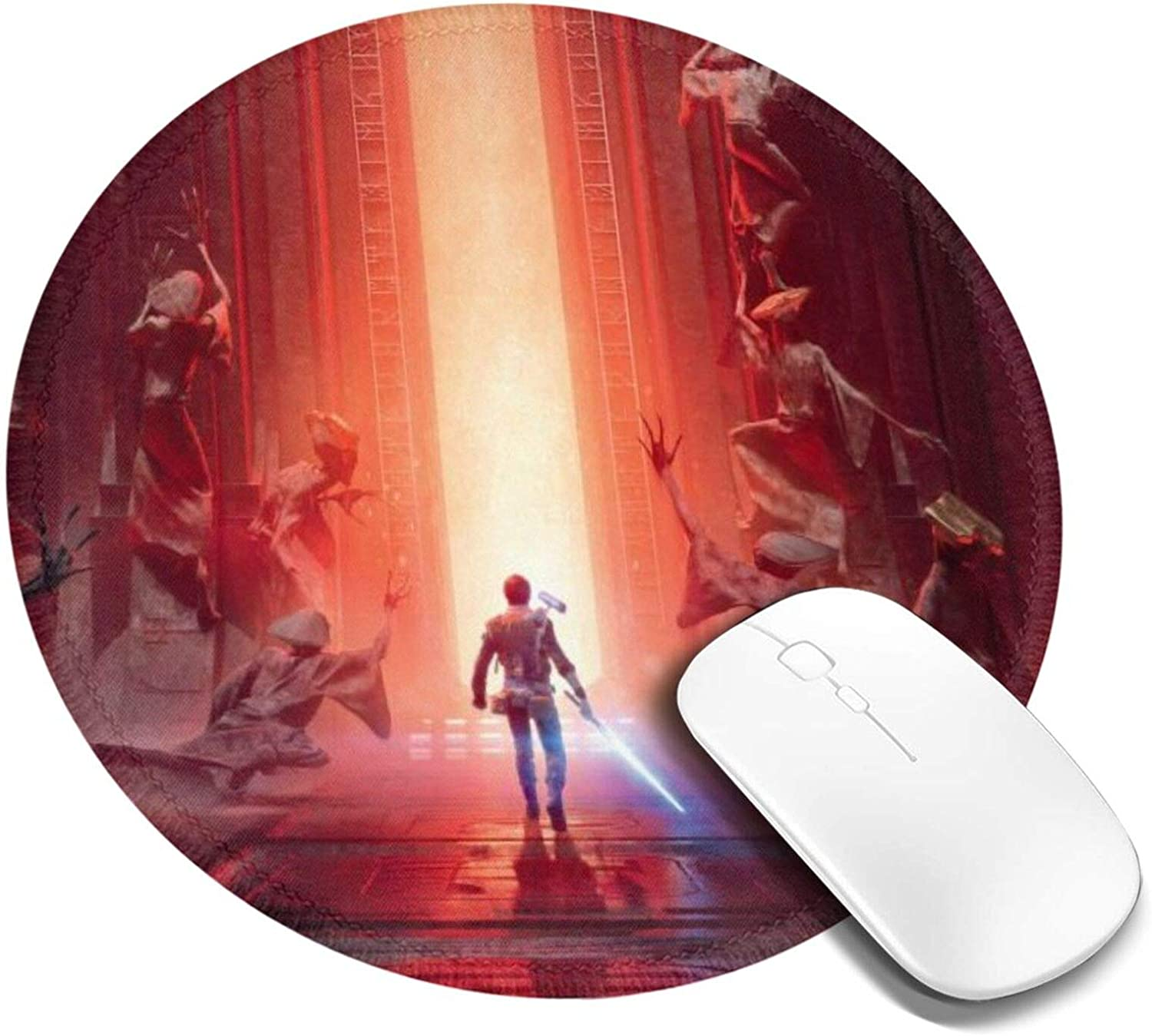 S-Tar W-ars Jar Jar Binks Round Mouse Pad, Mouse Mat for Office Supplies & Gaming Computer Desk Accessories, with Non-Slip Rubber Base
