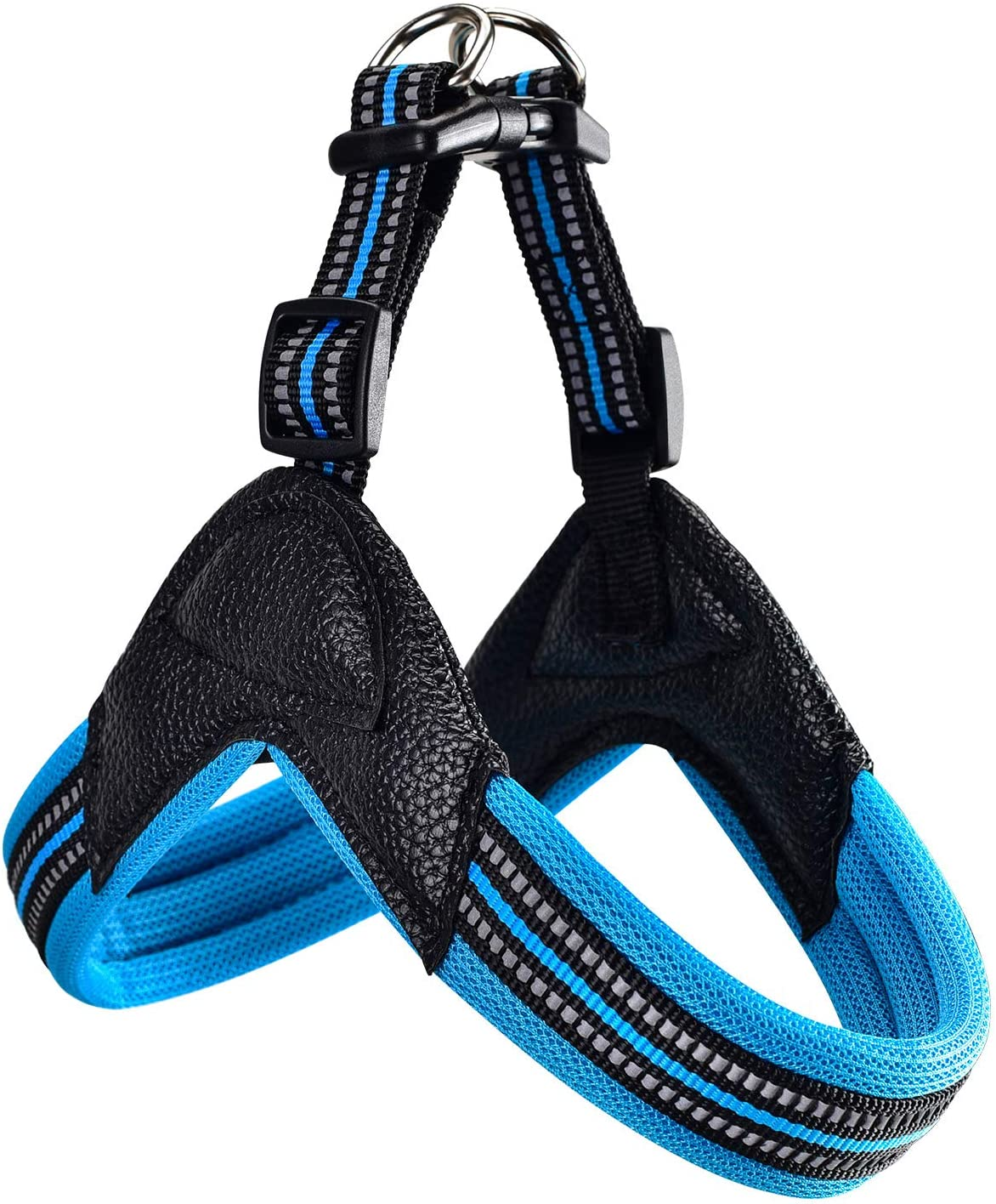 Dog Harness No Pull Ultra Soft Breathable Padded Pet Harness 2 Adjustable Botton, 3M Reflective Pet Harness for Dogs Easy Control for Small Medium Large Dogs