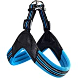 Dog Harness No Pull Ultra Soft Breathable Padded Pet Harness 2 Adjustable Botton, 3M Reflective Pet Harness for Dogs…