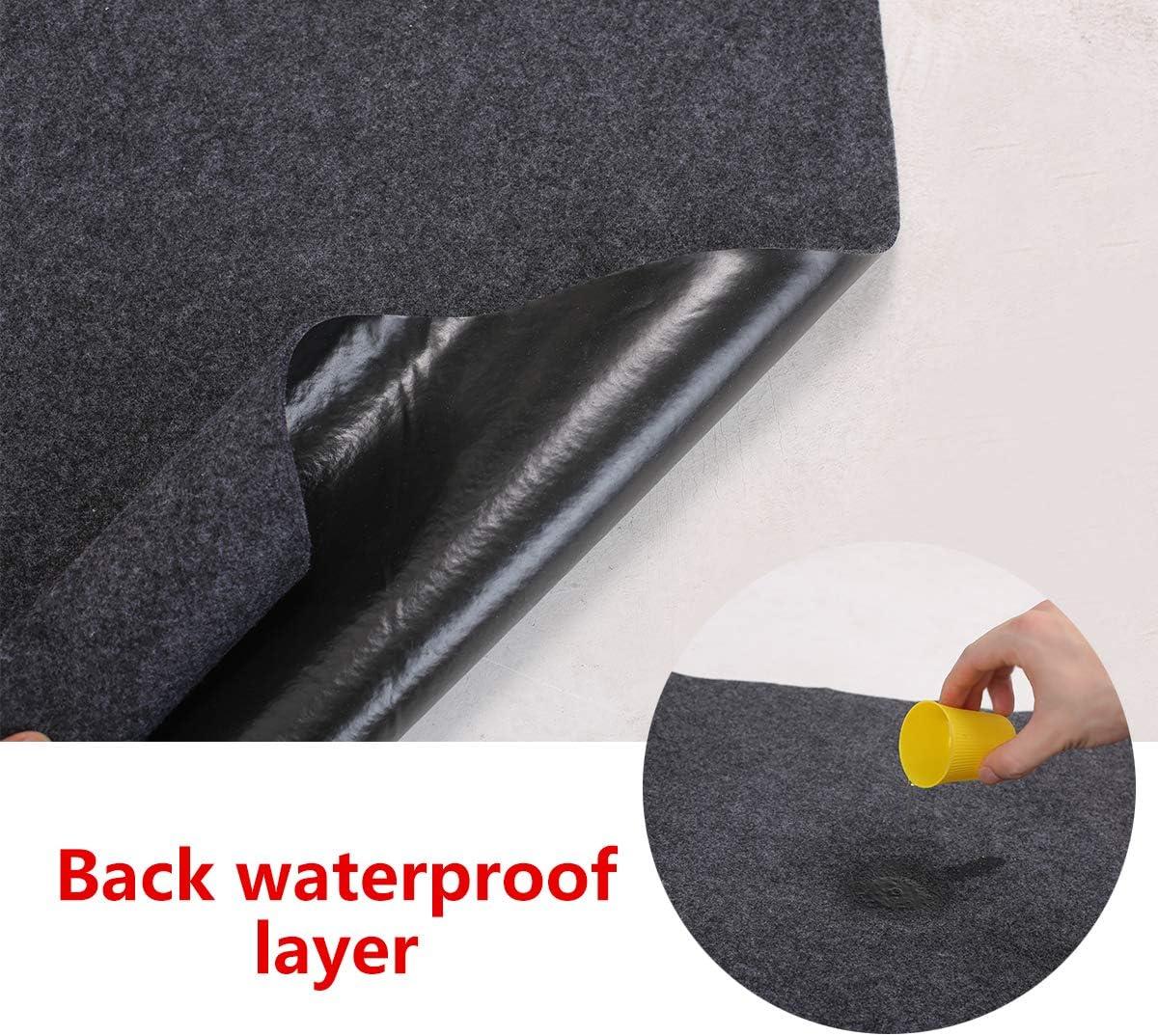 21.3 ft x 7.5 ft Indoor Parking Mat-Absorbent Felt and Leak-Resistant Anti-Slip Backing Easy to Clean Sensko Garage Floor Mat,Shearable