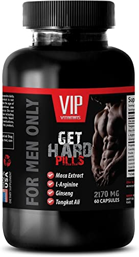 Male Enhancing Pills Increase Size - GET Hard Pills 2170Mg - for Men ONLY - Maca - 1 Bottle 60 Capsules