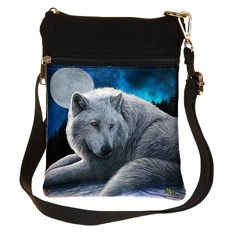 32cf05c35c Guardiano del Nord - lupo bianco borsa a tracolla Multicolours - Fantasy -  Nemesis Now