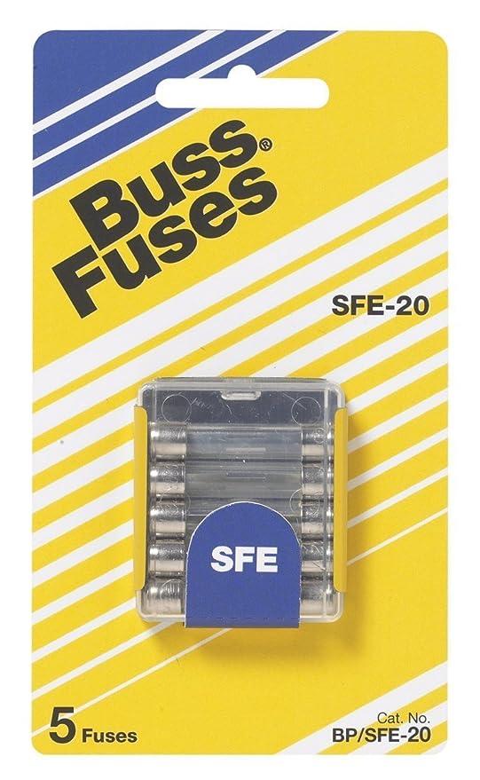 Amazon.com: BUSSMANN BP/sfe-20 SFE 20 Amp Fusibles de tubo ...