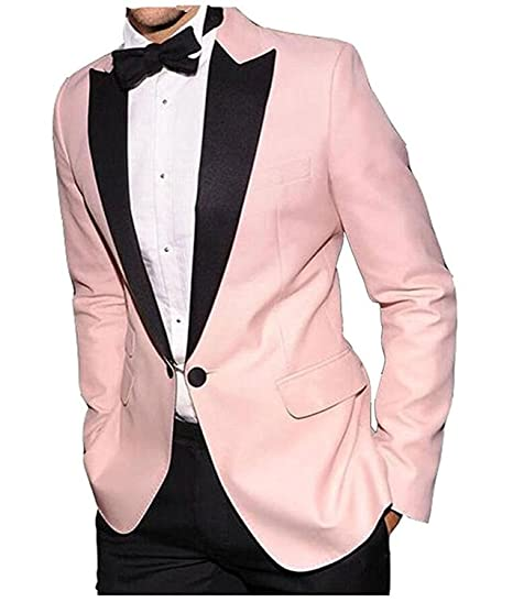 9963a99826f6 Pretygirl Men s Casual One Button Pink Summer Men Suits 2 Pieces Groom Tuxedos  Wedding Suit  Amazon.co.uk  Clothing