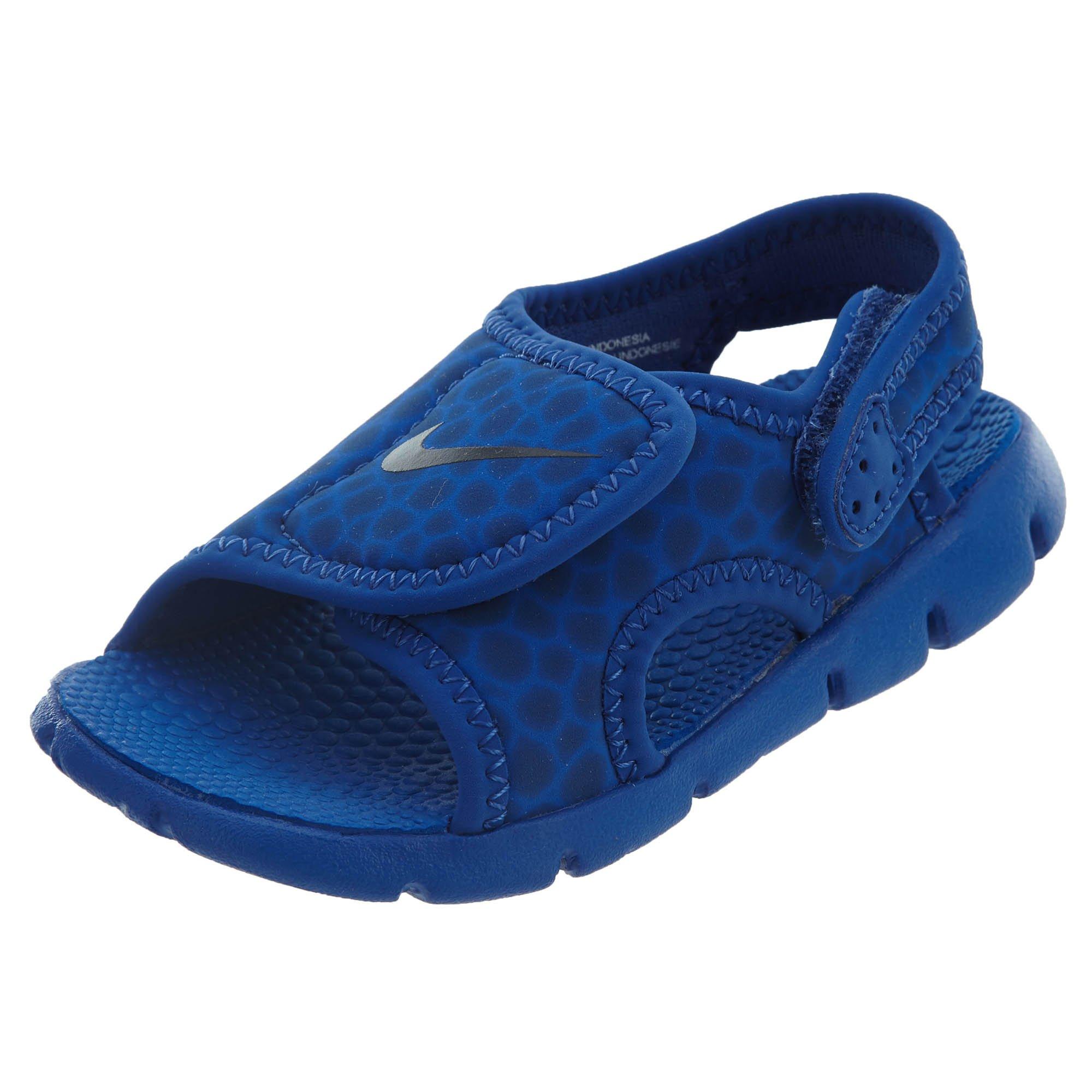 Nike 386519-414: Sunray Adjust 4 Boys Game Royal Sandals (10 M US Toddler)