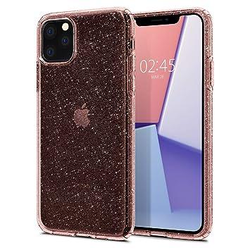 iPhone 11 Pro Max ケース リキッド・クリスタル グリッター 075CS27132 (ローズ・クォーツ)