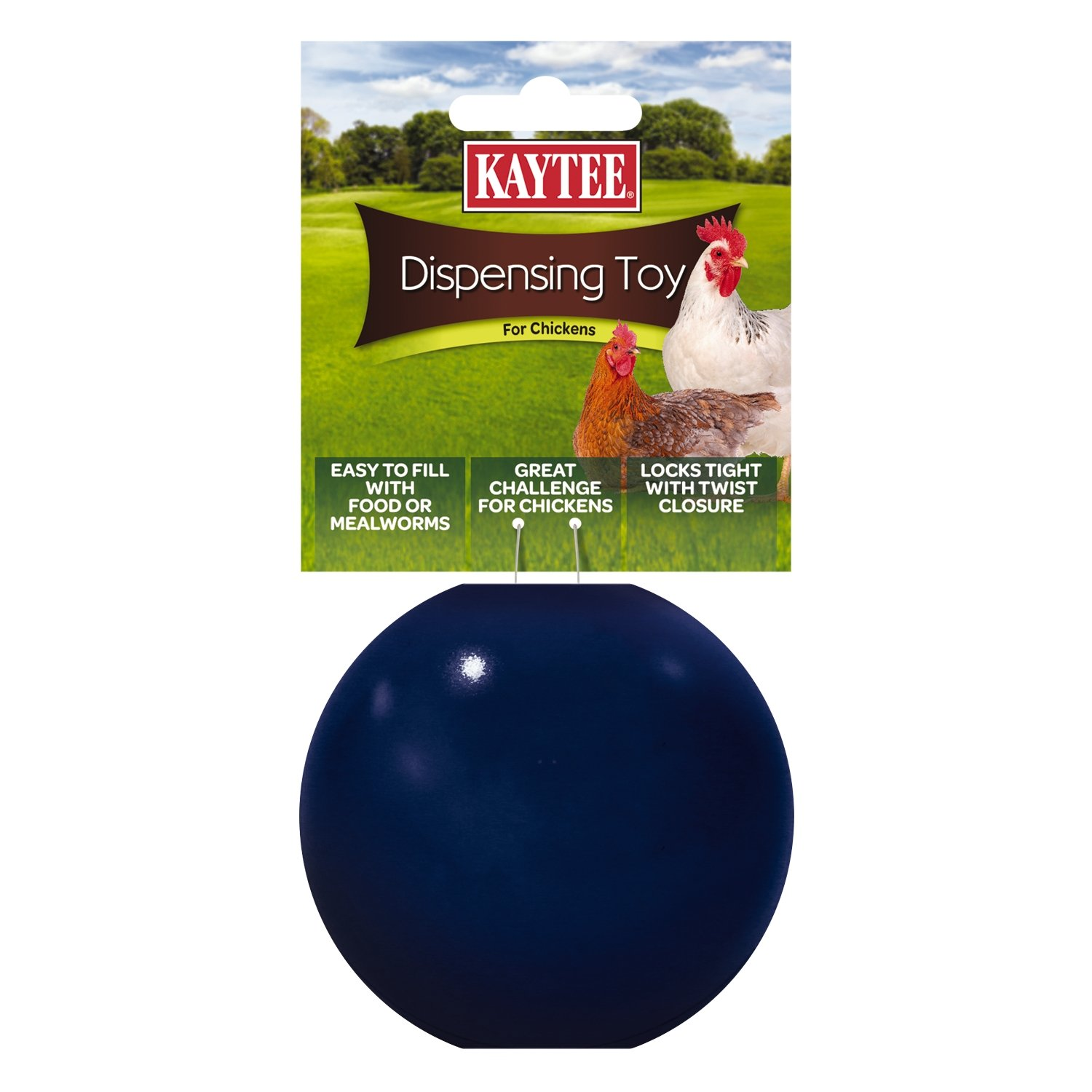 Kaytee Chicken Treat Dispensing Toy, Colors Vary