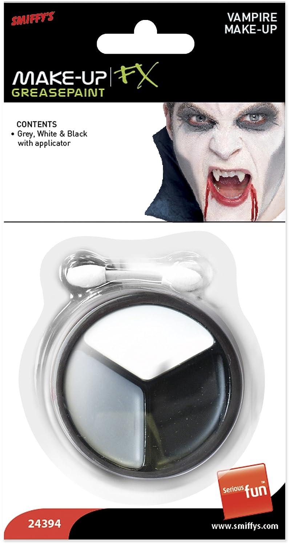 Smiffys 24394 Vampir-Make-up in Grau, weiß/schwarz weiß/schwarz Smiffy's