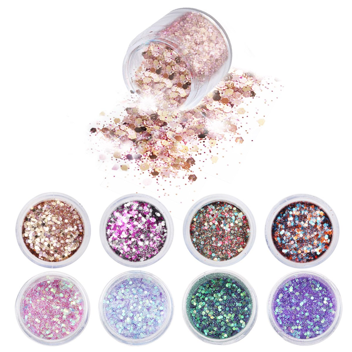 Glitzerpuder für Nägel | Amazon.de Beauty