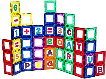 super durable wit ensemble 18 pièces: maintenant avec plus forts aimants Playmags 100 robuste