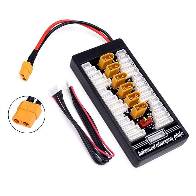 Amazon.com: XT60 Lipo cargador de batería 2 – 6S paralelo ...