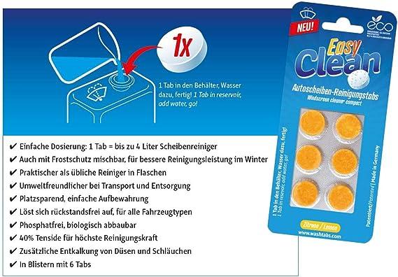 Easy Clean Scheibenreiniger Tabs Lemon Auto