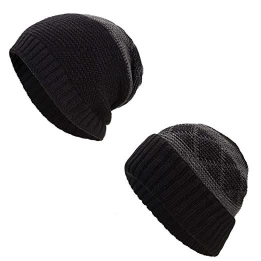 323e35729 Amazon.com: Two way Wearing Winter Beanies Hat Disorderly Color ...