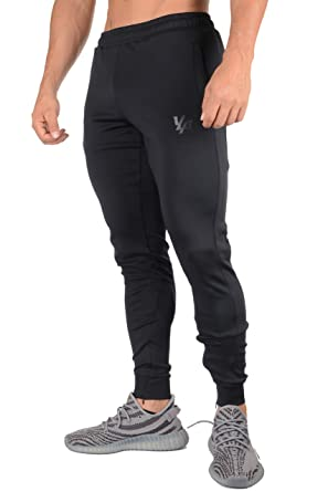 c9edae87d2d5 YoungLA Athletic Track Pants for Men Joggers Slim Fit Workout Gym Lounge  215 All Black Small