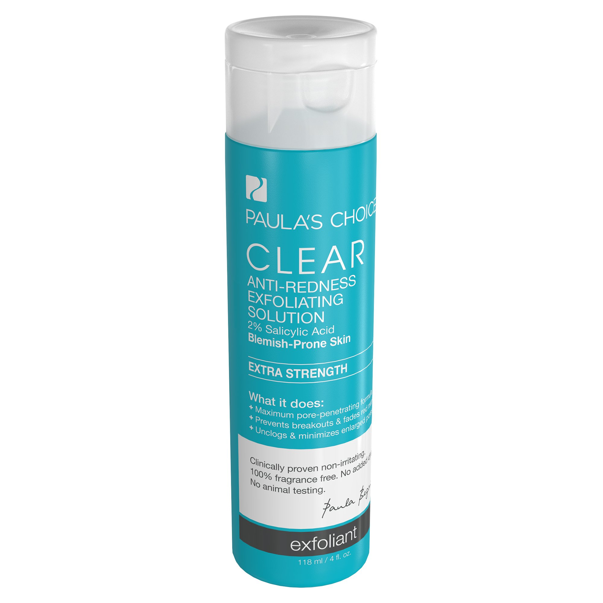 Paula's Choice-CLEAR Extra Strength Anti-Redness Exfoliating Solution with 2% BHA Salicylic Acid, 4 Ounce Bottle Non-Abrasive Face Exfoliator by Paula's Choice (Image #2)