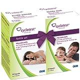 Cyclotest fertile Set Kinderwunsch-Tabletten für die Fruchtbarkeit von Frau und Mann Nahrungsergänzung 150 Kapseln