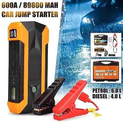 89800 mAh 600A Coche portátil Arrancador del Salto 12 V 4USB ...