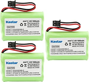 Kastar 3-Pack AAAX3 3.6V MSM 1000mAh Ni-MH Rechargeable Battery for Uniden Cordless Phone BT-446 BT446 BP-446 BP446 BT-1005 BT1005 TRU8885 TRU8885-2 TRU88852 TRU8888 TRU9460 TRU9465 TRU9480 TCX-800