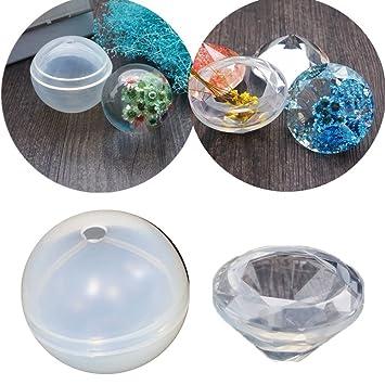 Molde de fundición de resina Molde de diamante Molde de silicona Molde de silicona Herramienta de fabricación de joyas para Arcilla polimérica, Fabricación, ...