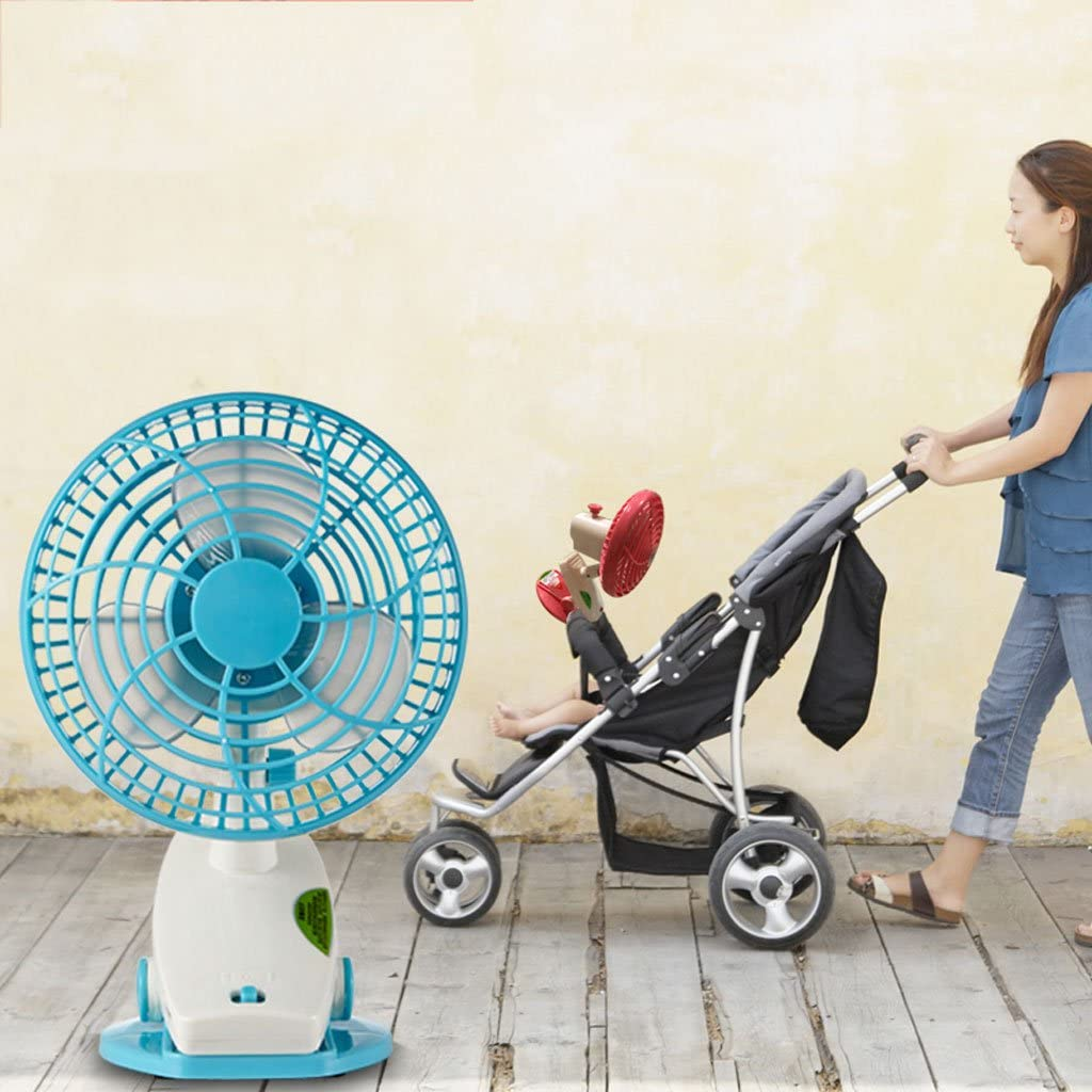 Mini Rechargeable Baby Stroller Baby Car Clip Bed Automatic Shaking His Head Small Fan Student Dormitory Family Outdoor Travel Portable Silent Fan Desk Table Portable Cooling Fans Childrens USB Fan