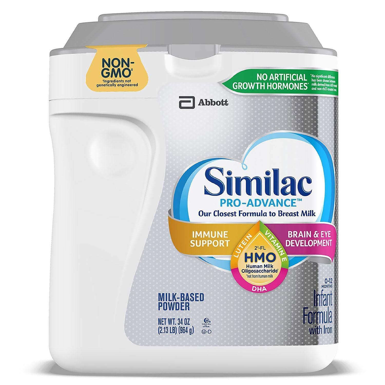 Similac Similac Pro-Advance Non-GMO with 2-FL HMO Infant Formula with Iron Powder, 34 Ounce ., 34 Ounce