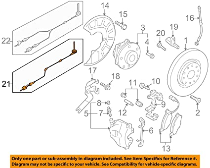 Amazon.com: Volkswagen 5N0 927 903 F, ABS Wheel Sd Sensor ... on