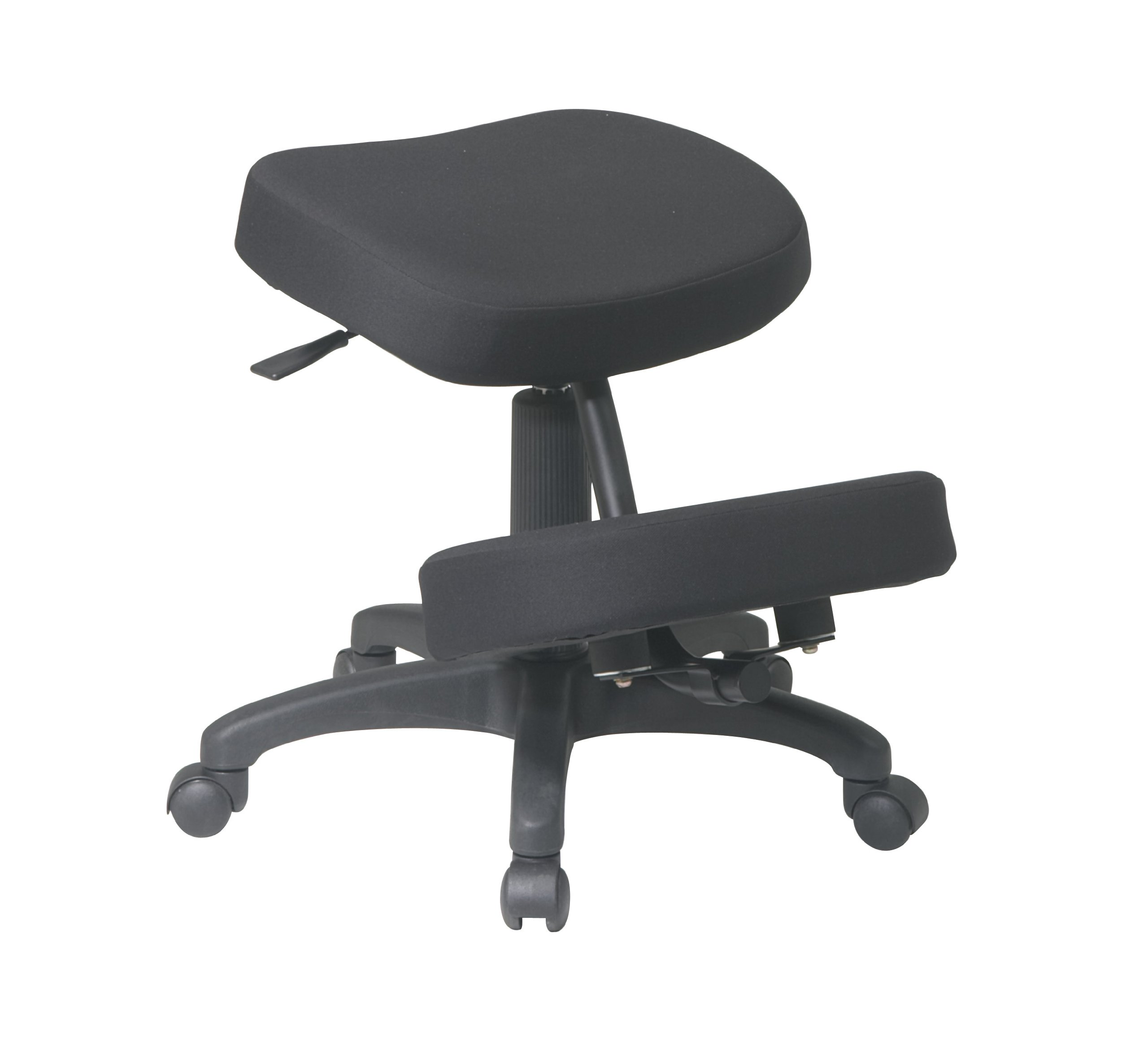 Office Star Ergonomically Designed Knee Chair with Casters, Memory Foam and 5 Star Base, Black by Office Star