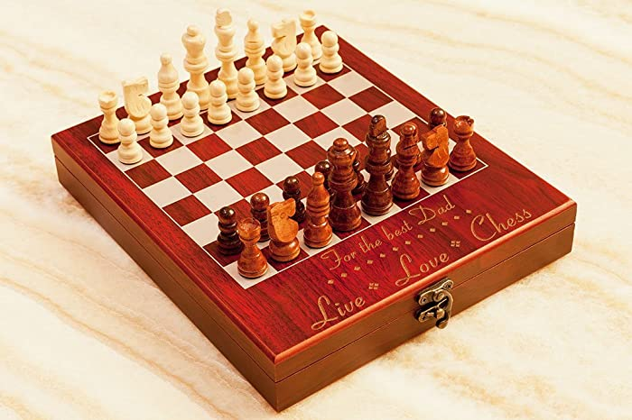 Perfect Personalized Chess Set U0026quot;Live Love Chessu0026quot;, Custom Engraved Travel  Chess