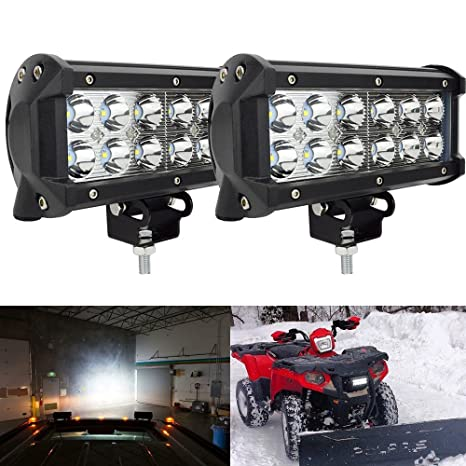 2pcs 36w 7in spot barra led largo alcance faros de trabajo led 12v-24v focos