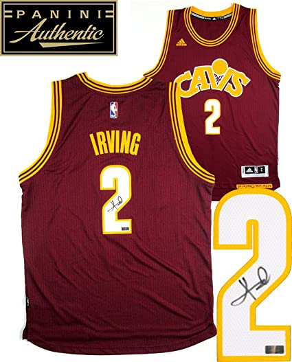 db417cc55 Kyrie Irving Autographed Signed Cleveland Cavaliers Adidas Swingman Red  Alternate NBA Jersey - Panini