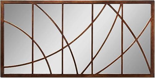 Extra Large 60 GEOMETRIC OVERLAY Bronze Wall Mirror Oversize Metal