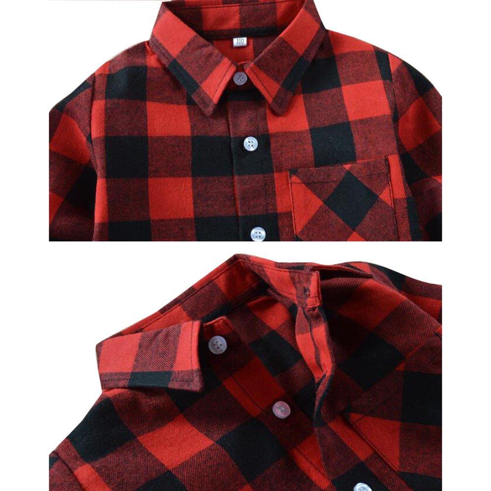 900427eb48c28 Yying Camisa Niño Manga Larga - Camisa Cuadros Blusa Niños Tops Niñas  Camiseta Primavera Otoño Tshirt Tartan Shirt Escuela Abrigo Diariamente  Casual  ...