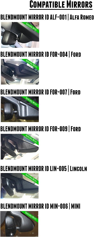 BlendMount BBE-3030 Patented Design Aluminum Radar Detector Mount for Beltronics//Escort Made in USA Looks Factory Installed