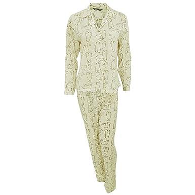 af86f19f9d4c Selena Secrets Womens Ladies Polar Bear Long Sleeve Pyjama Shirt and  Bottoms Set (14 16) (Cream)  Amazon.co.uk  Clothing