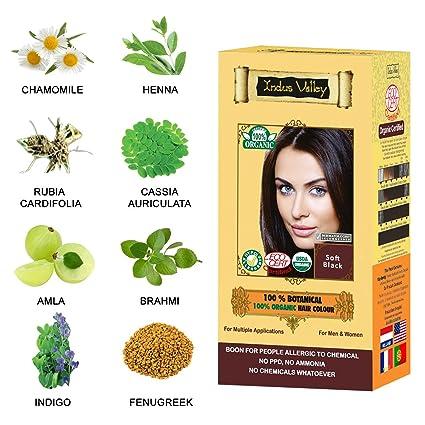 Tintura per capelli 100% vegetale 100% organico della Valle dell Indo per  pelle 5fa36f26097e