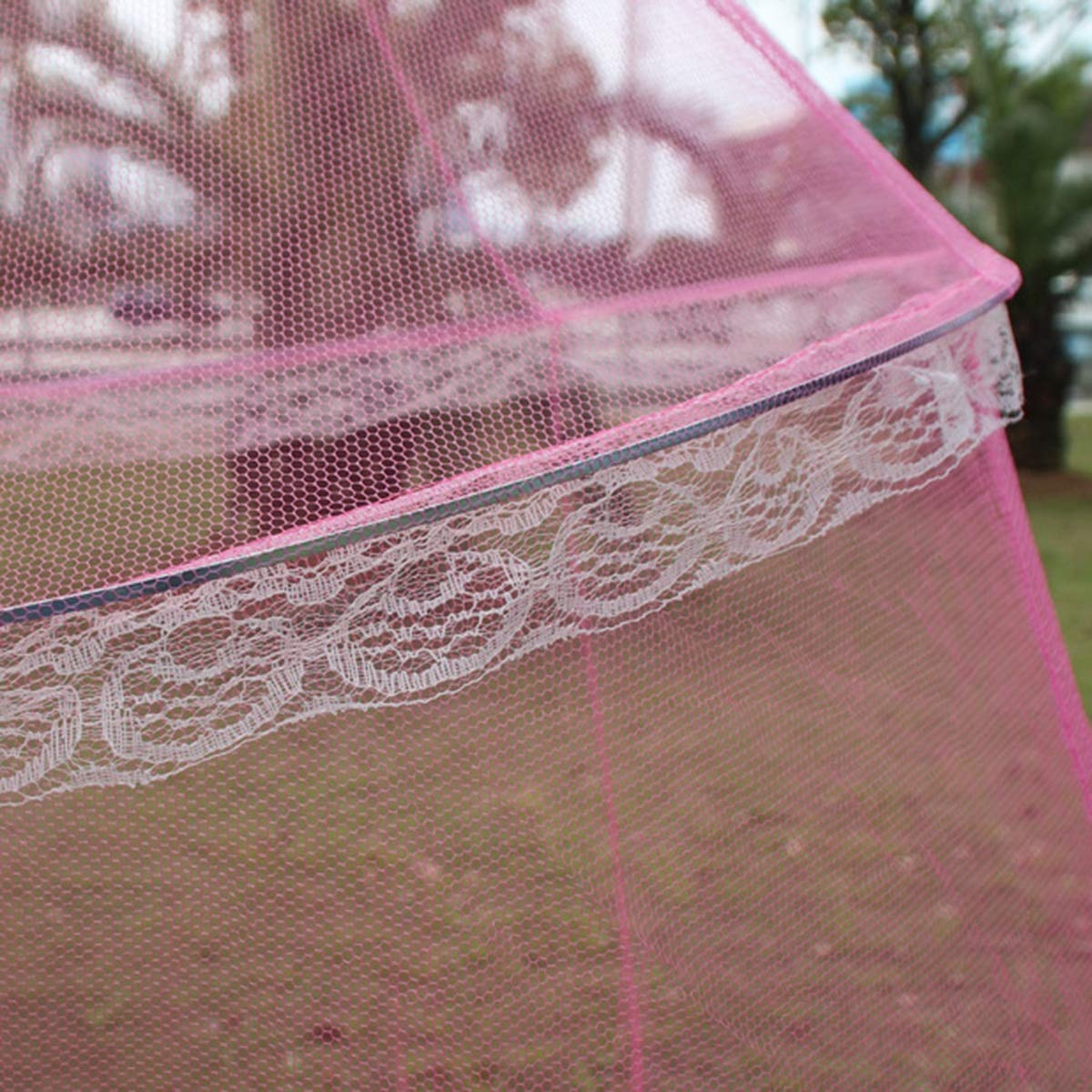 Insect Mosquito Net Bed Canopy Lace Netting Mesh Drape Cover for Princess Bedding Color : Blue
