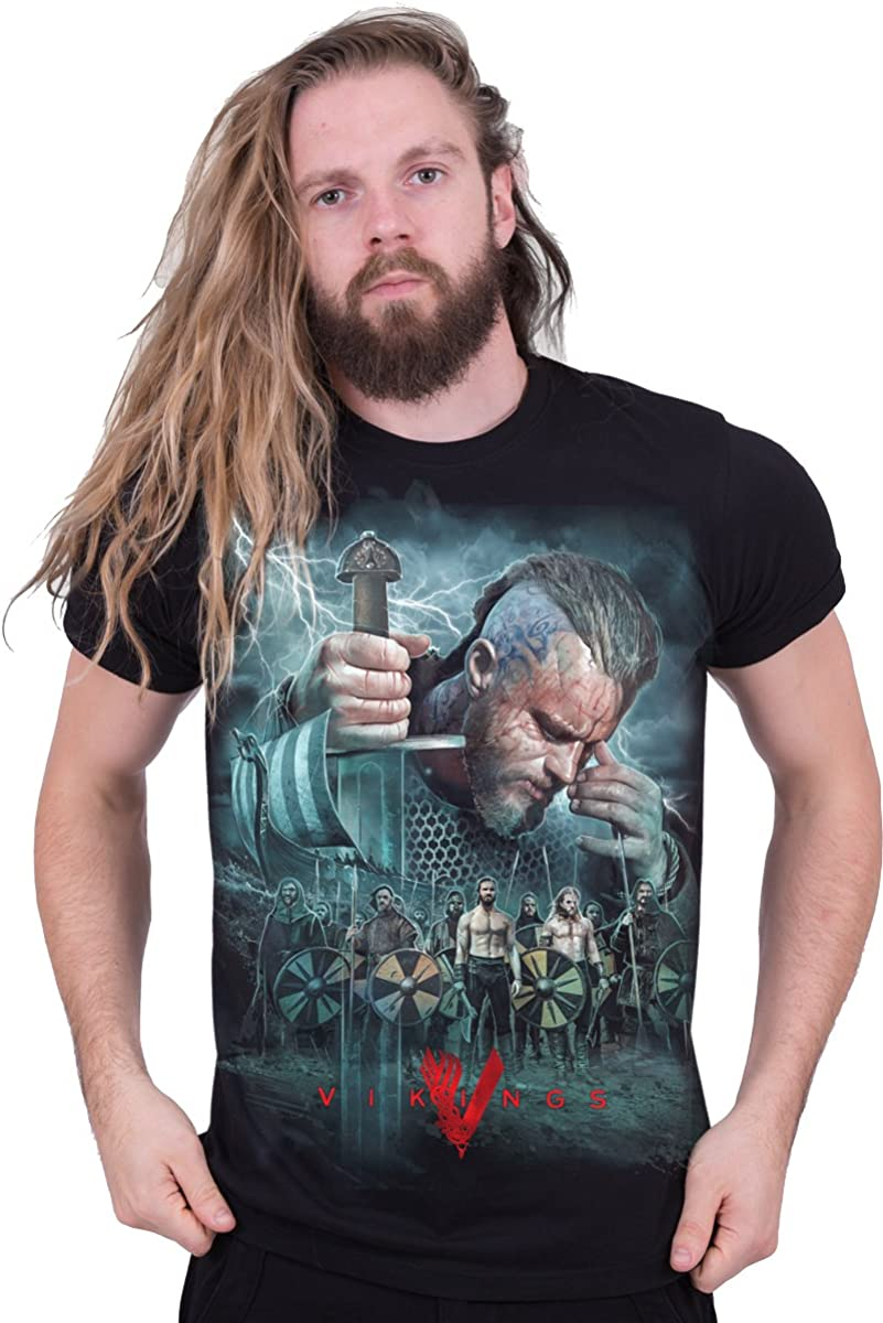 Vikings Floki With Battle Sword Licensed Adult T Shirt History Drama Series