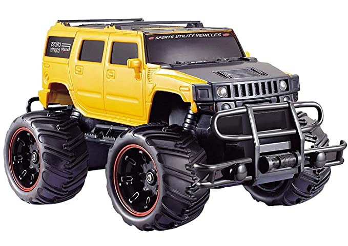 Popsugar 1:20 Off Roader Monster Truck with Remote Control Rechargeable Toy for Kids, Yellow