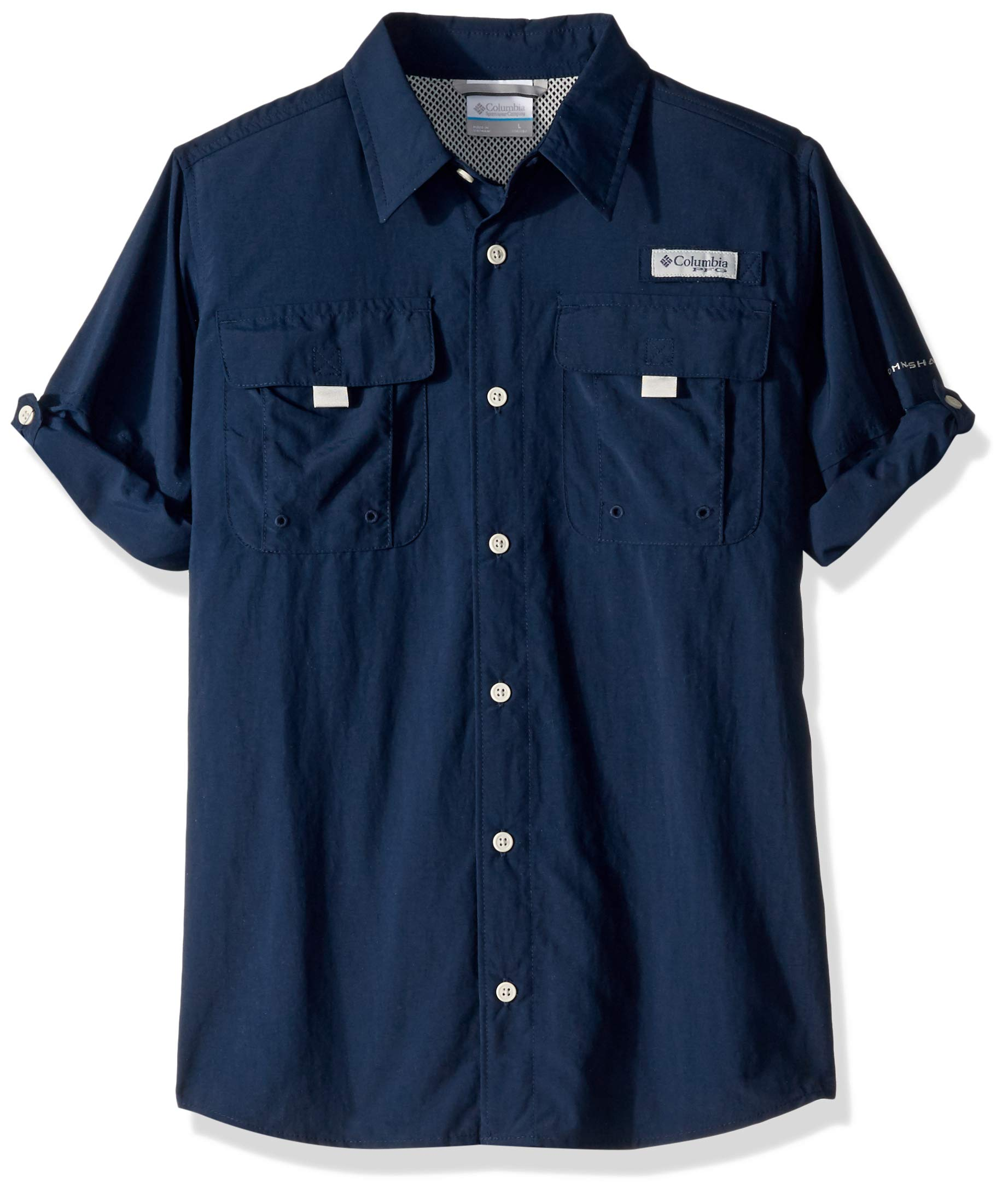 Columbia Boys PFG Bahama Long Sleeve Shirt, Collegiate Navy, Medium by Columbia (Image #1)
