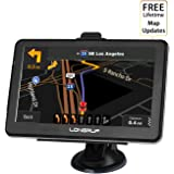 """Car GPS Navigation,7 """"HD Professional GPS Navigation System,Voice Guidance and Directional Speed Limit Alerts, Capacitive Touch Screens, 3D Maps - Free update of maps"""